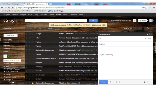 Gmail new compose look